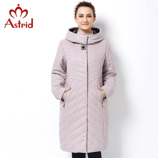 Астрид 2017 Новая зимняя куртка женщинская Высокое качество пуховки длинный и теплый Профессиональный плюс размер Женщины куртки женский бренда женщин Весна и осень Пальто AM-2680