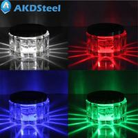 AKDSteel Zonne-energie 4 Kleur 2 LED Nachtlampje Mason Jar licht met Solar Deksel voor Patio Tuin Thuis Bedroon Decor Gift zk30