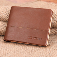 2016 Fashion Luxury Design 100% Genuine Leather Men wallet genuine wild style leather Wallet with credit card holder wholesale