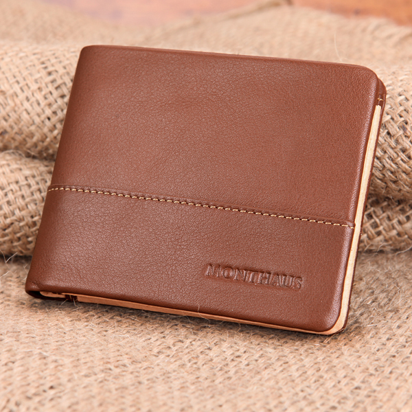 2018 Fashion Luxury Design 100% Genuine Leather Men wallet genuine wild style leather Wallet with credit card holder wholesale hot sale 2015 harrms famous brand men s leather wallet with credit card holder in dollar price and free shipping