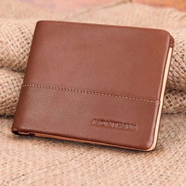 2018 mode luxe Design 100% en cuir véritable hommes portefeuille véritable style sauvage en cuir portefeuille avec porte-carte de crédit en gros