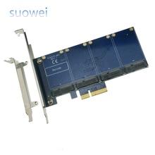 PCI-e para placa de expansao PCIe para 4-port mSATA MSATA solid state hard drive adaptador de cartao array RAID cartao