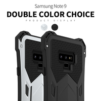 R JUST Heavy Duty Doom Armor Metal Case for Samsung Galaxy Note 9 Waterproof Shockproof Phone Cover for Galaxy Note 9