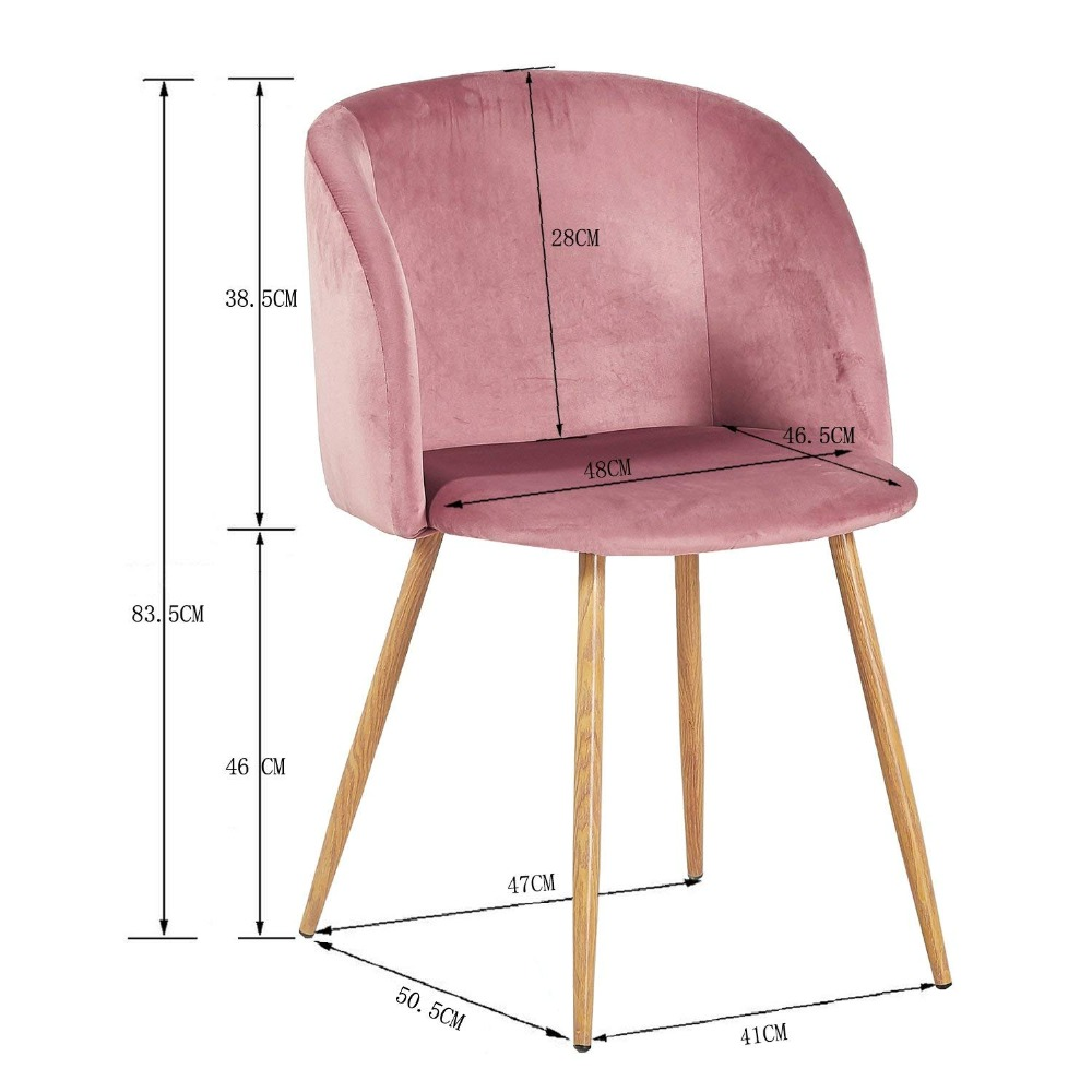 Tub Accent Chair Velvet Covers Amazon Eggree Fabric Armchair Dining Living Room Lounge Office Modern Furniture Rose Pink Set Of 1 In Chairs From On