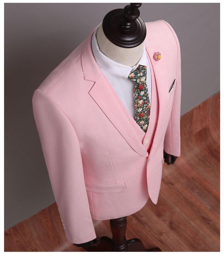 Nueva Marca Casual Rosa hombres trajes Blazers Slim Fit hombres ...