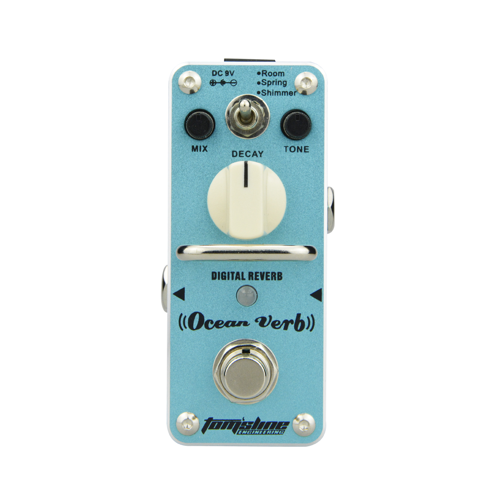 Aroma Ocean Verb Digital Reverb Guitar Effect Mini Analogue Pedal AOV-3 Mix Tone Room Mode Decay Control Shimmer Mode aroma aov 3 ocean verb digital reverb electric guitar effect pedal mini single effect with true bypass guitar parts