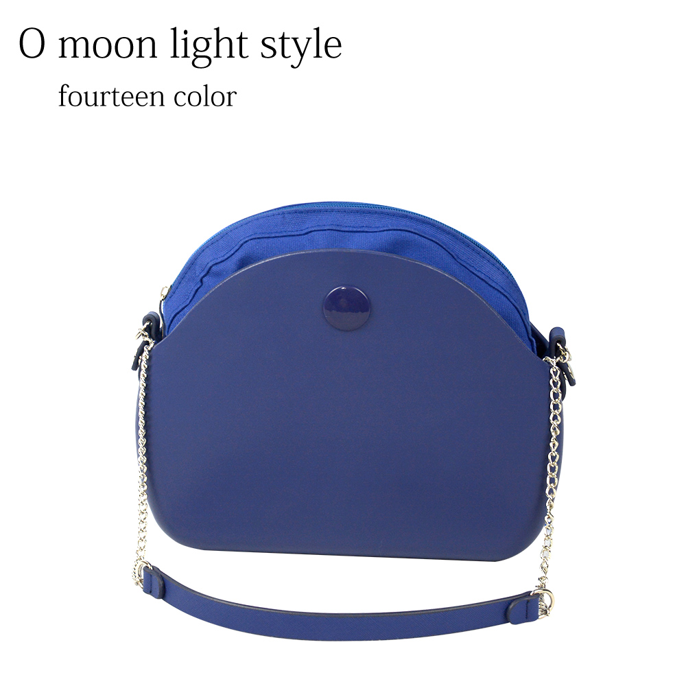 2019 New O bag moon light Body with long chain waterproof inner pocket bag rubber silicon