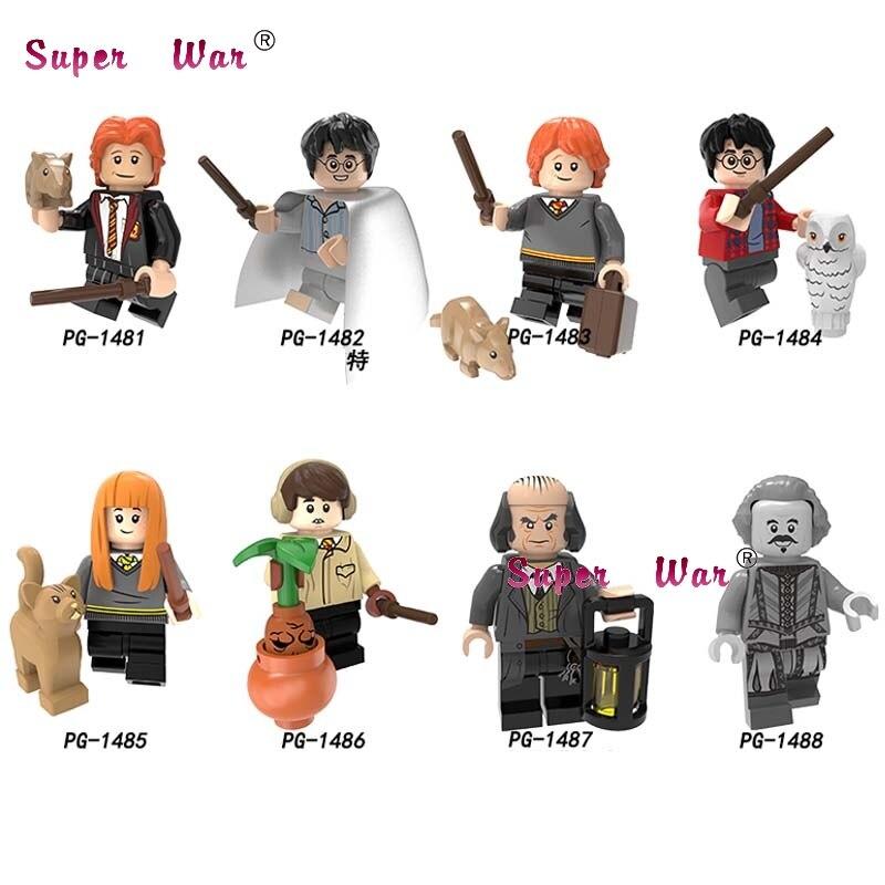 50pcs Building Blocks Harry Potter Ron Susan Neville Longbottom Argus Filch for kids children Collection toys