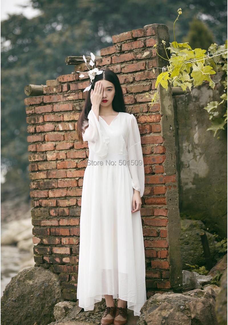 フリー船白雪姫ロングシフォンヴィンテージ中世の ドレス ルネサンス プリンセス ビクトリア朝の ドレス/マリー ロング ドレス