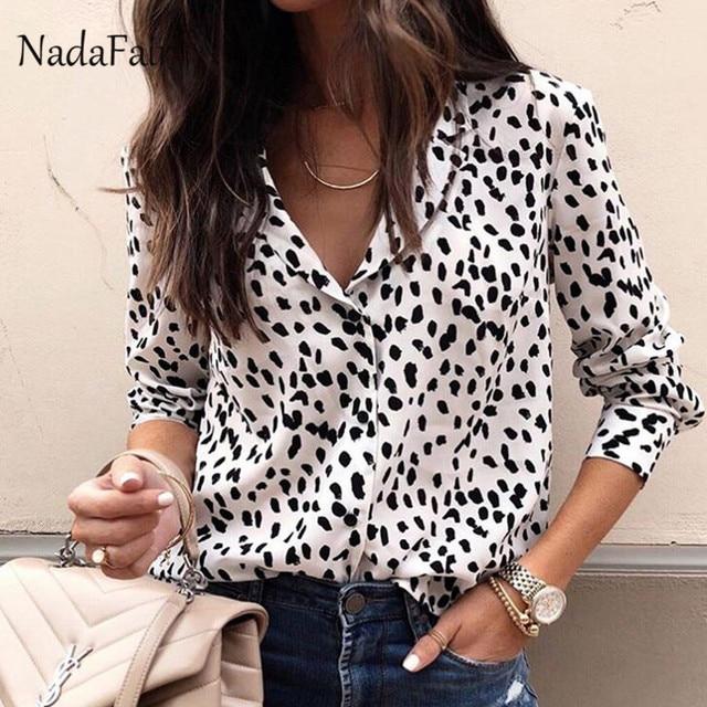 3e90f94b8e404 ... animal print Source · Nadafair plus size long sleeve leopard print  blouse women turn down