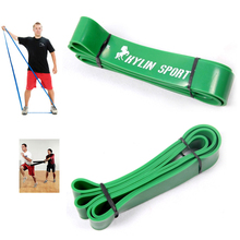 4.4cm Green Width Gym Premium Latex Pull Up Body Bands CrossFit Loop Resistance Band 50 to 125 Pounds of