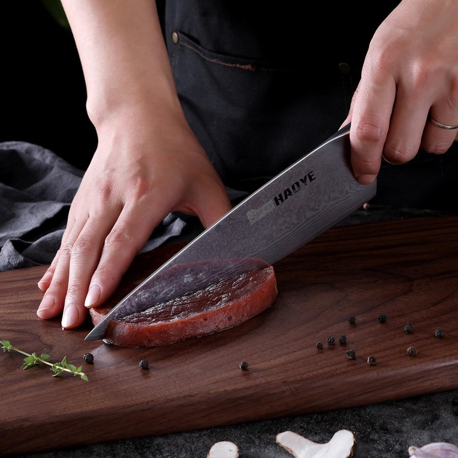 Image 5 - HAOYE Damascus chefs knife Japanese 67 layers vg10 steel kitchen  knives profession wide blade sandalwood handle luxury Gyuto NEWKitchen  Knives