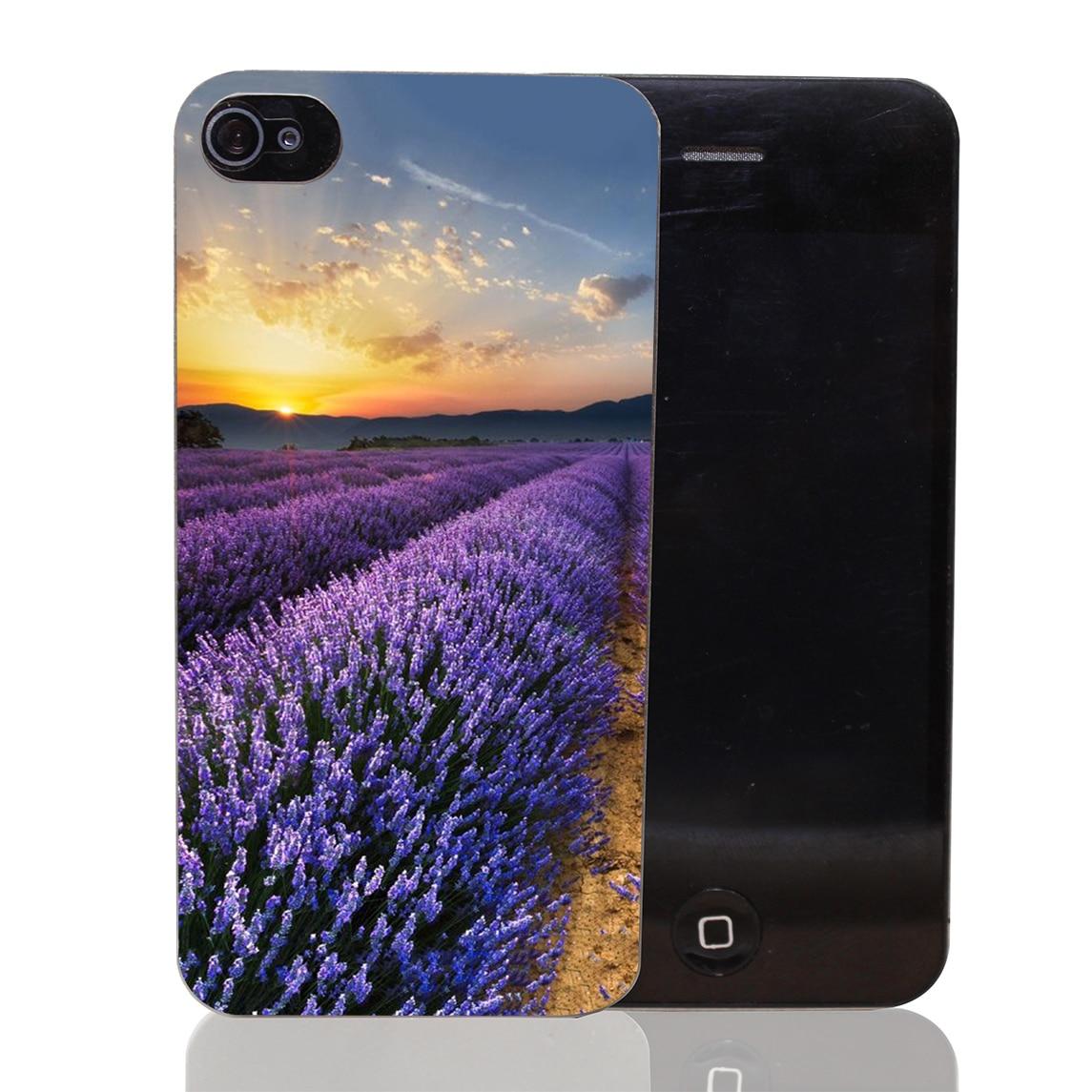3396CA Sunrise lavender garden Hard Transparent Case Cover for iPhone 4 4s 5 5s 5c SE 6 6s Plus Thin Style