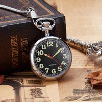 Retro Vintage Copper Pocket Watch Necklace Chain Pendant Antique Steampunk Mens Quartz Pocket Watches New