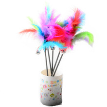 interactive cat toys  kitten christmas pet mimi Bell feather short rod funny stick plastic