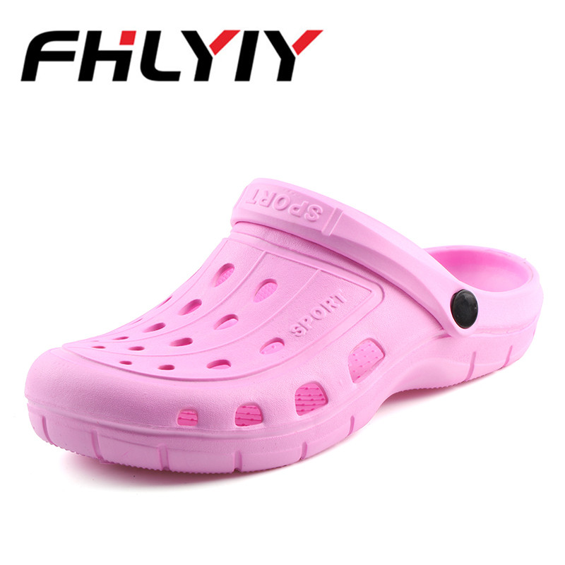 2018 Women Summer Slippers Croc Sandals Fashion Beach Sandals Casual Flat Slip On Flip Flops Female Hollow Shoes Outdoor Shoes стоимость