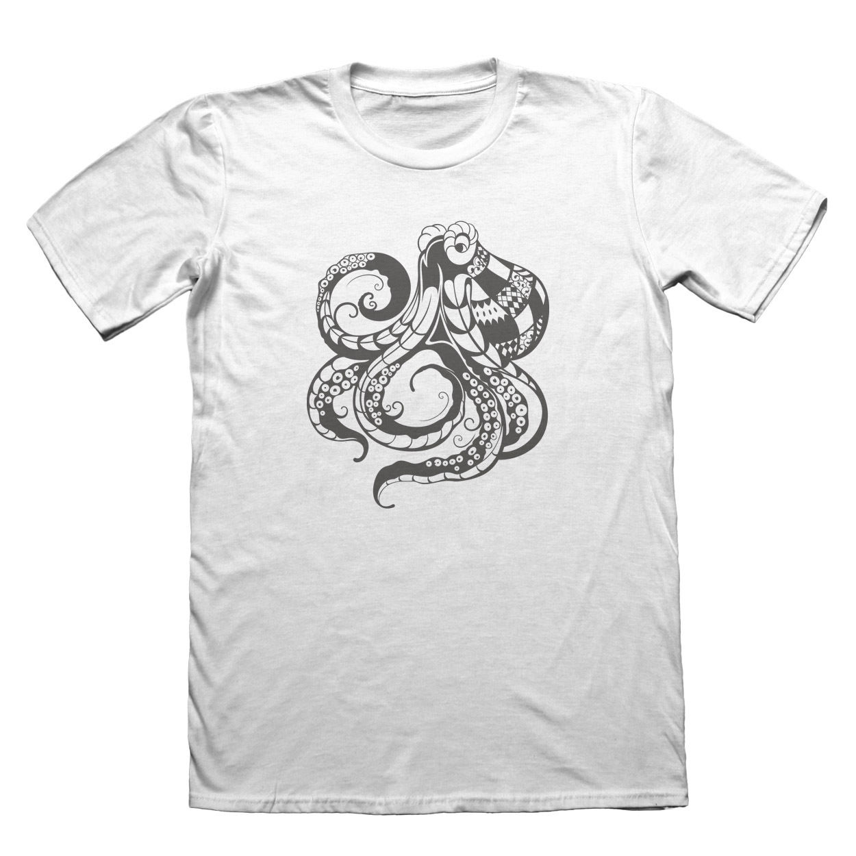 Octopus T-Shirt - Mens Fathers Day Christmas Gift #7372