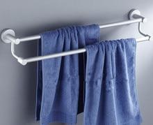 A solid base Space aluminum double pole towel bath towel rack bathroom pendant цена и фото