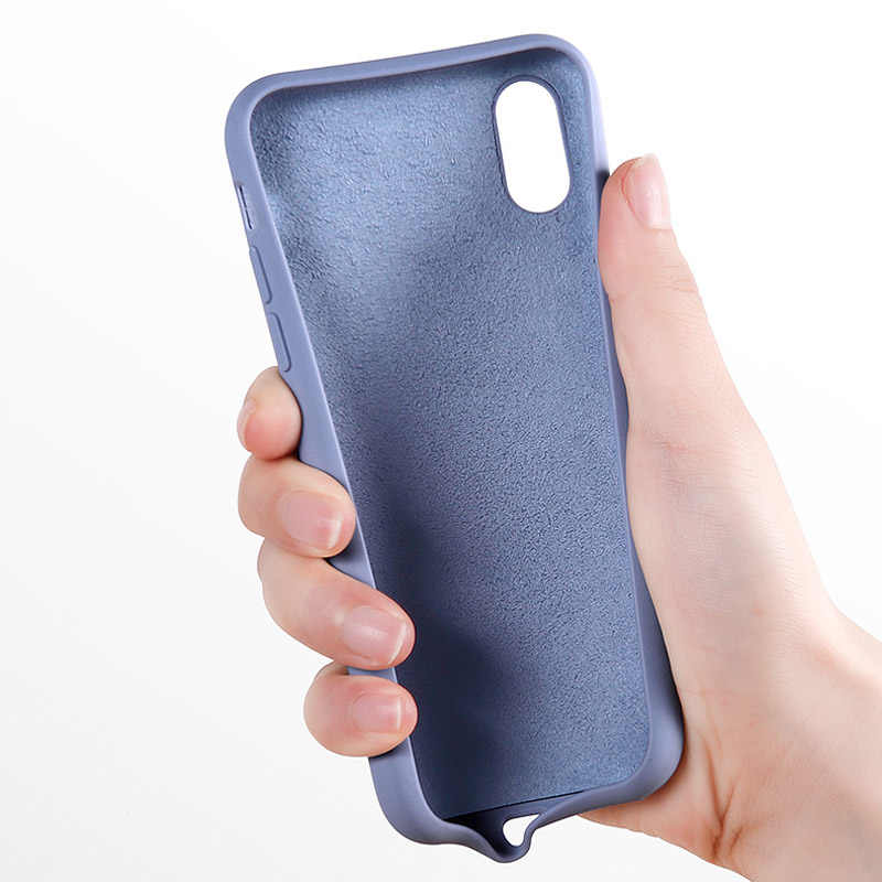 Funda de teléfono de silicona Lovebay para iPhone X 7 8 6 6S Plus suave TPU Color caramelo a prueba de golpes para iPhone XS XR Xs Max 11 Pro