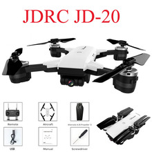 JDRC JD-20 JD20 WI-FI FPV с 2MP Широкий формат Камера высокое режим удержания Складная RC Quadcopter RTF селфи Дрон VS Visuo XS809HW E58