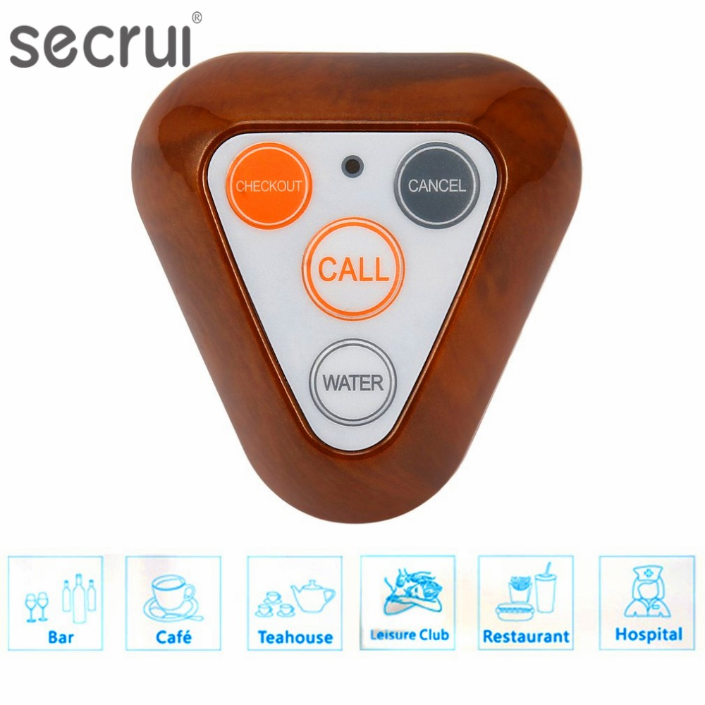 SECRUI Restaurant Hospital Pager 433MHz Wireless Waiter Calling System Call Button Pager Four key Restaurant Hospital Equipments the restaurant wireless pager set hospital ktv2 service bell chess room pager pager beadhouses cafe
