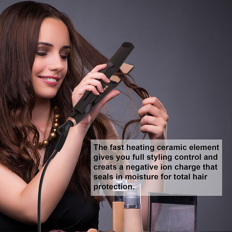 3 in 1 interchangeable hair curler brush Hair straightener MCH heating plate Big wave curling flat iron holder straightener iron 4 in 1 hair flat iron ceramic fast heating hair straightener straightening corn wide wave plate curling hair curler styling tool