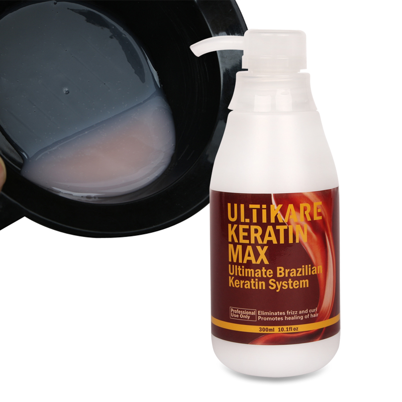 300ml 5% Formalin Brazilian UltiKare Keratin Treatment+300ml Purifying Shampoo Straighten Normal Cruly Hair+Free Gift Hair Set
