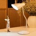 Led Table Lamp Iron Modern American Adjustable Arm Desk Lamp  E27 220V for Bedroom Office Lamp Kids Reading Study Black/White