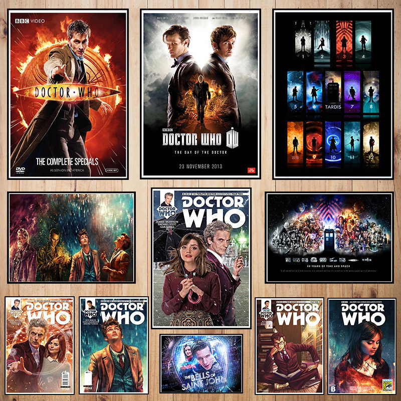 Doctor Who Classic movie Coated paper poster Bar Cafe High quality Printing Drawing core Decorative Painting