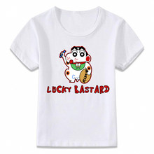 Kids Clothes T Shirt Crayon Shin Chan Lucky Basterd T-shirt for Boys and Girls Toddler Shirts Tee(China)