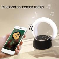 Moon Shape Bluetooth Wireless Stereo Speaker Night Light Luminous Table Lamp Outdoor Table Lamp Lumiparty Luminaria