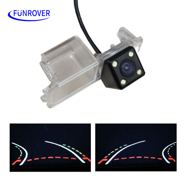 HD CCD Car Trajectory Reversing Rearview Backup Camera for vw Volkswagen GOLF V SCIROCCO EOS LUPO PASSAT CC POLO SEAT VARIANT