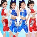 Child PU Jazz Dance Costume for Stage Girl Hip-hop Dance Costumes for Kids Performance Dance Wear Modern Dancing Suits Clothes 9
