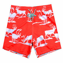 Hot 2019 Brand Fashion BREVILE PULLQUIN Board Shorts Men Elk HD Printing Men's Boardshorts 100% Quick Dry Skateboard Sportswear(China)