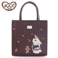 New women's retro Sen Department Tote bag high quality PU leather college shoulder bag animal pattern Messenger bag