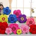 1 PC Super Bonito Tridimensional Rosas Flores Subiu Almofada Travesseiro Almofadas de Pelúcia Flor Artificial Presente do Dia Dos Namorados