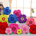 1 PC Super Cute Three-dimensional Roses Pillow Stuffed Cushions Flowers Rose Pad Artificial Flower Valentine's Day Gift