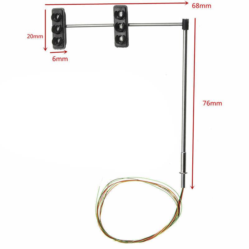 3 kolorowe sygnały świetlne Ho Oo skala Model 6 led dla majsterkowiczów piaskownica stołowa przejście ulica budowa Model 4