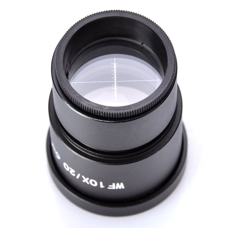 ФОТО WF10X Zoom Stereo Microscope Eyepiece 20mm Widefield Eyepieces With Reticle Mounting Size 30mm Free Shipping