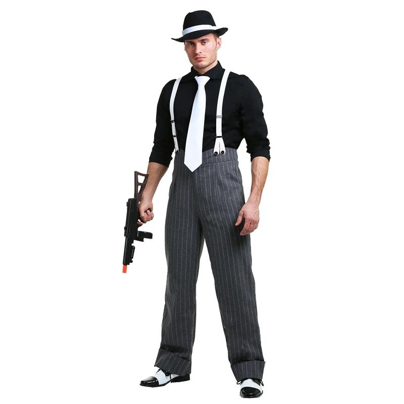 Мужской Гангстерский костюм в стиле мафии