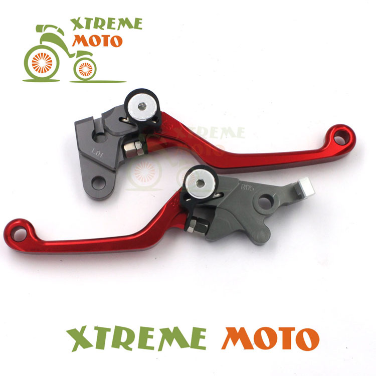 Red CNC Billet Pivot Foldable Brake Clutch Levers For Honda XR 250  MOTARD CRM 250R AR XR400MOTARD Motocross Enduro Dirt Bike