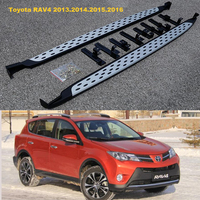 For Toyota RAV4 2013.2014.2015 Running Boards Side Step Bar Pedals High Quality Brand New Grain Design Nerf Bars