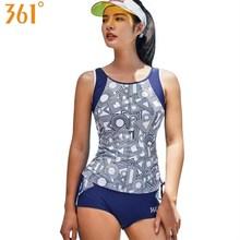 361 Women Tankini Swimsuit Two Pieces Bathing Suits Beach Surfing Swim Suit Female Swimwear Sports Sleeveless Swimming