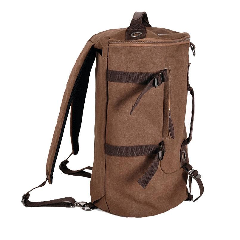 Men's Multi-Functional Backpack Vintage Shoulder Bag High Quality Canvas Male Bagpack Rucksack Travel Luggage for Weekend 3