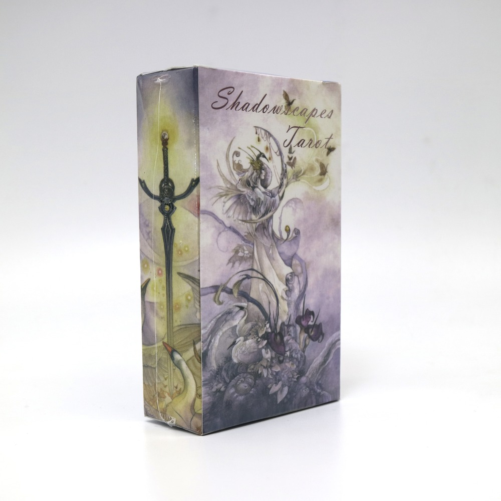 shadowscapes tarot cards game 78 cards deck raindrop water proof free shipping tarot board game castles of burgundy board game 2 4 players cards games send english instruction funny game for party family with free shipping