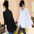 Новые 2016 Женщины Футболки С Длинным Рукавом Плюс Размер 3xl Женщин блузка Повседневная Работа Офис Топы Рубашки Blusas De Femininos Ropa Mujer