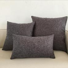 Fyjafon Thick 2pcs Pillow Case Solid Pillow Cover Decorative Pillow Case Cotton Linen Cushion Covers 45