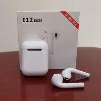 I12 TWS Bluetooth наушники беспроводные наушники Bluetooth 5,0 гарнитура наушники с сенсорным управлением гарнитура для всех смартфонов