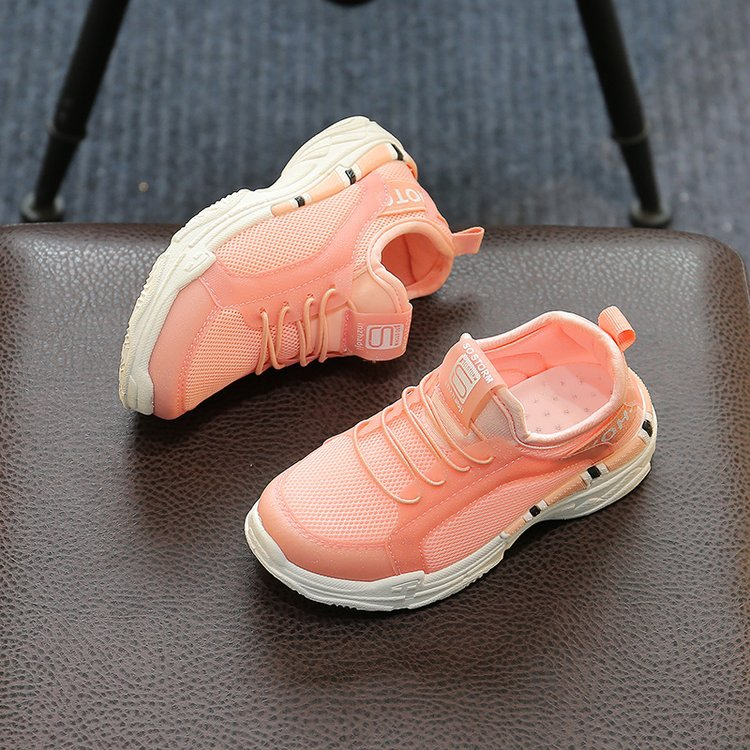 AFDSWG spring and autumn mesh breathable pink shoes children girl black sport shoes boys, school girl shoes ,lounge shoes
