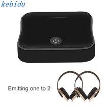 Kebidu บลูทูธ 2 ใน 1 Toslink 3.5 มม.AUX SPDIF AptX HD อะแดปเตอร์สเตอริโอ 5.0 สำหรับหูฟังทีวี